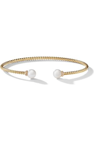 David Yurman 18kt yellow gold Solari pearl and diamond cuff