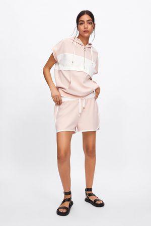 Zara Calções bermuda jogging com faixa lateral