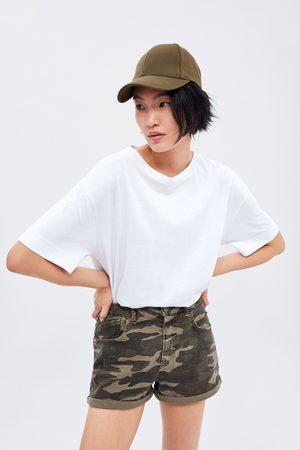 Zara Calções bermuda com estampado de camuflagem