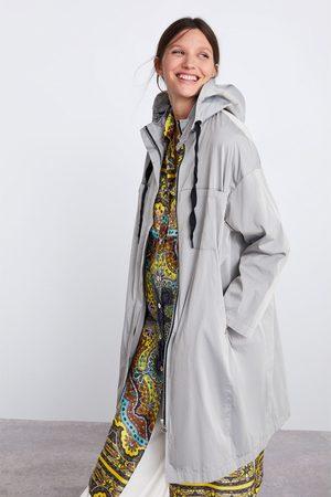 Zara Parka comprida oversize com capuz