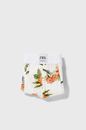 Zara Homem Boxers - Boxers com estampado floral