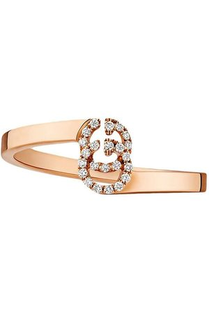Gucci Senhora Anéis - GG ring in rose gold with diamonds