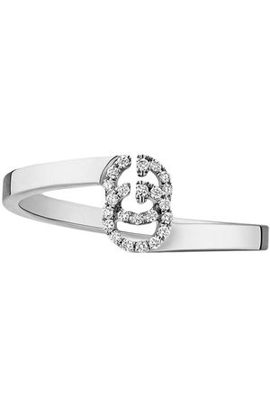 Gucci Senhora Anéis - GG Running ring in white gold with diamonds