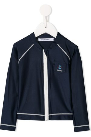 Familiar Menino Camisolas com capuz - Contrast stitch track jacket