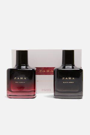 Zara RED VANILLA EAU DE TOILETTE 100 ML + BLACK AMBER EAU DE TOILETTE 100 M