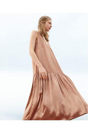 Zara Vestido assimétrico contraste