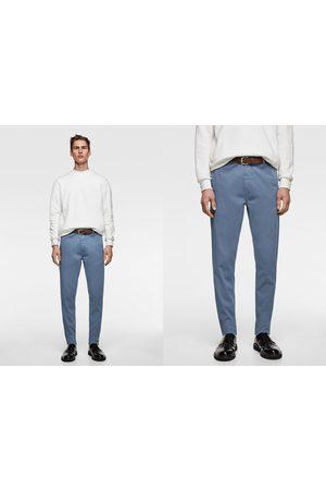 Zara Homem Calças Chino - Calças chino cinto