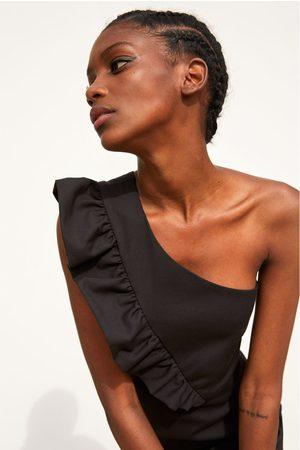 Zara Vestido calção assimétrico