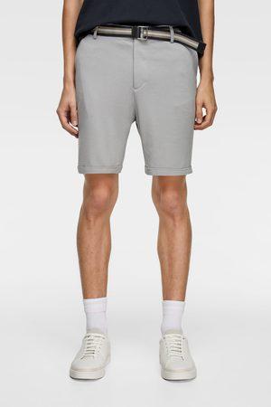 Zara Homem Bermudas - Calções bermuda com cinto