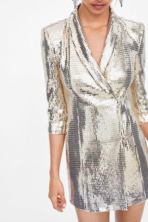 Zara Blazer vestido com brilhos