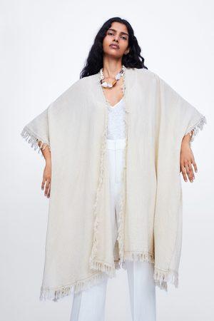 Zara Quimono comprido franjas