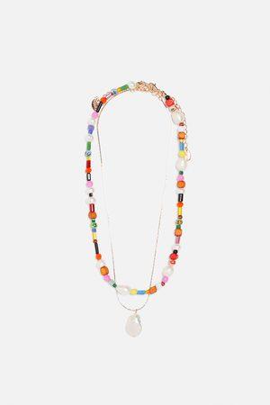 Zara Pack de fios com pérola natural multicoloridos