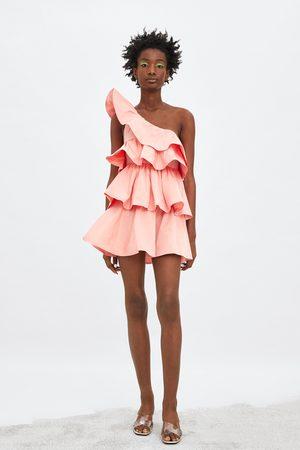 Zara Vestido assimétrico folhos edição limitada