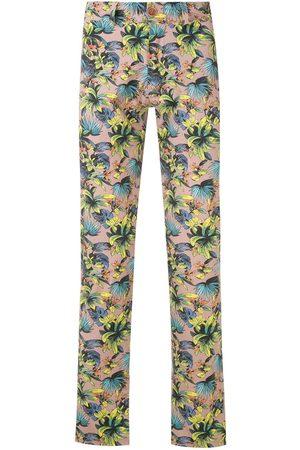 AMIR SLAMA Foliage print straight-leg trousers