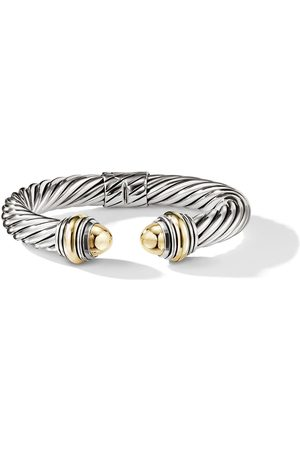 David Yurman Cable Classics detailed 14kt yellow gold 10mm cuff