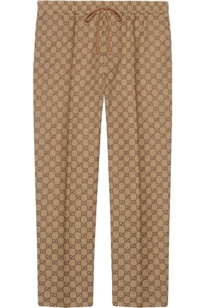 Gucci GG print drawstring trousers