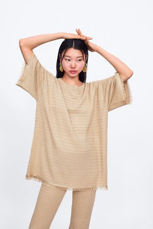 Zara Sweater malha franjas