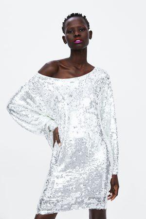 Zara Vestido curto lantejoulas