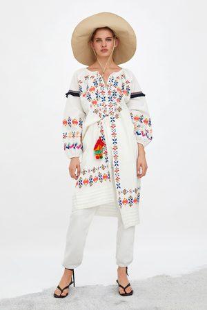 Zara Túnica bordados coloridos