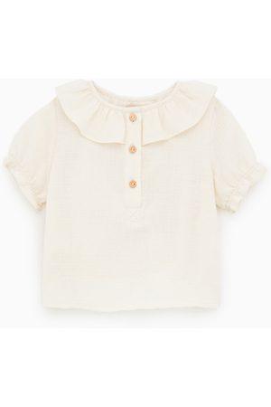 Zara Camisa com folho quadrilha