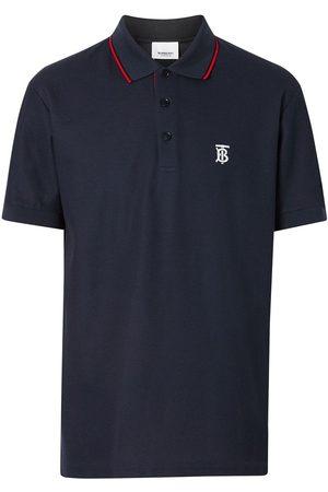 Burberry Icon Stripe Placket Cotton Piqué Polo Shirt