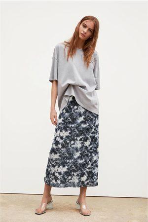 Zara Senhora T-shirts & Manga Curta - T-shirt texto frontal