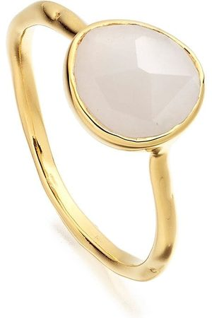 Monica Vinader Senhora Anéis - GP Siren moonstone stacking ring