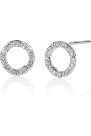 Monica Vinader Riva Circle Stud Diamond earrings