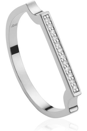 Monica Vinader Signature Thin Diamond ring