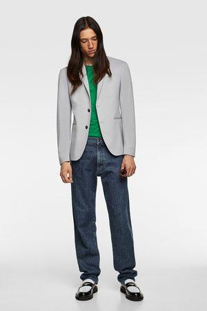 Zara Homem Blazers - Blazer de conjunto confort knit 4 ways