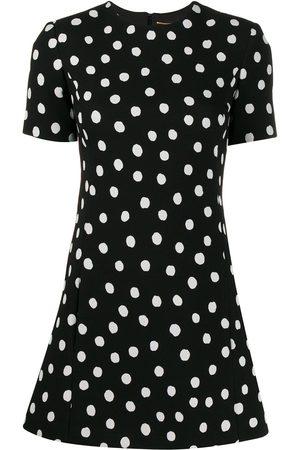 Saint Laurent Polka dot mini dress