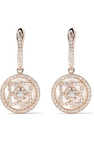 De Beers 18kt Enchanted Lotus mother-of-pearl and diamond sleeper earrings