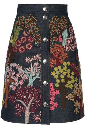 Giambattista Valli Floral embroidered skirt