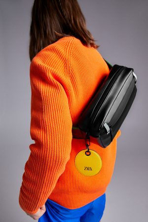 Zara Black belt bag with colour detail