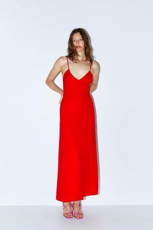 Zara Vestido comprido de alças edição limitada