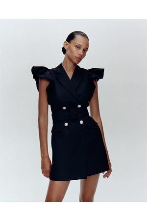 Zara Colete vestido com folhos