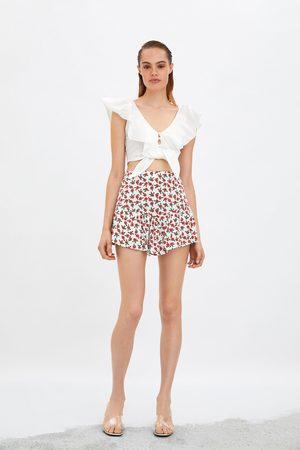 Zara Saia-calção estampado