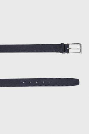 Zara Homem Cintos - Split suede belt