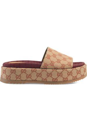 Gucci Senhora Sandálias - Original GG slider sandal for women