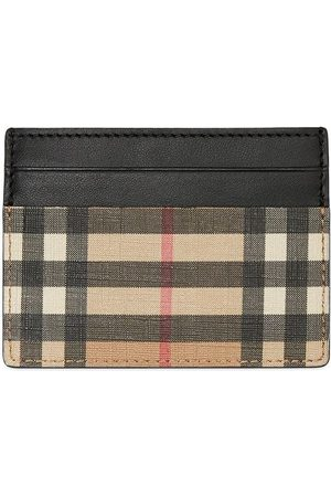 Burberry Vintage Check E-canvas and Leather Card Case