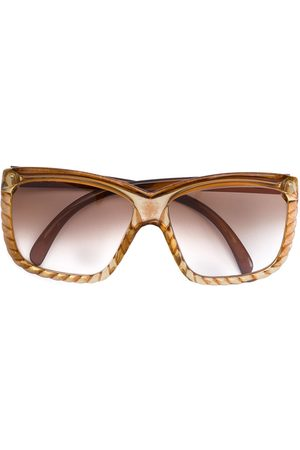 CHRISTIAN DIOR VINTAGE Rope effect oversized glasses