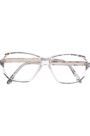 Yves Saint Laurent Marble effect geometric glasses