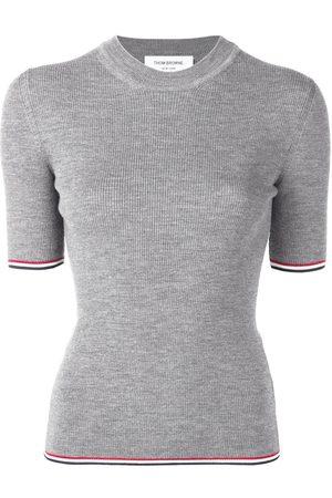 Thom Browne RWB-trim ribbed T-shirt