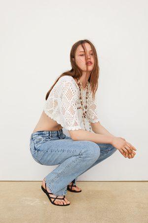 Zara Crop top de crochet