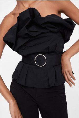 Zara Blusa com volume e cinto