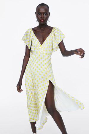 Zara Vestido às bolinhas comprido