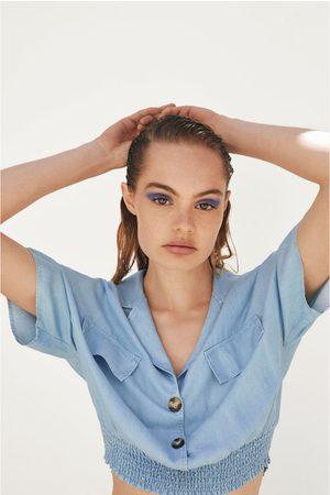 Zara Camisa cropped fluida