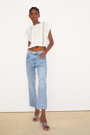 Zara T-shirt combinada croché