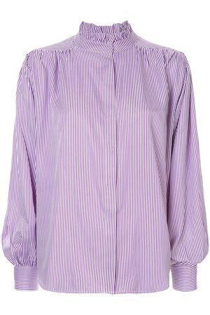 Bambah Pleated detail pinstripe blouse