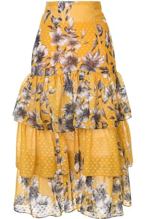 Bambah Floral ruffle skirt